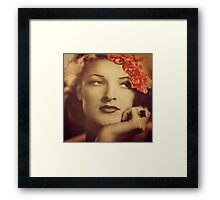 Hollywood Starlet Framed Print