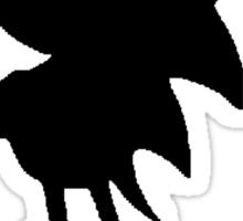 Classic Sonic Silhouette 2 - Black Sticker