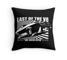 Mad Max Inspired Last of the V8 Shirt Throw Pillow