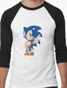Minimalist Sonic 4 Men's Baseball ¾ T-Shirt