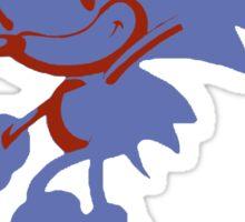 Minimalist Sonic 3 Sticker