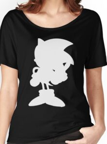 Classic Sonic Silhouette - White Women's Relaxed Fit T-Shirt
