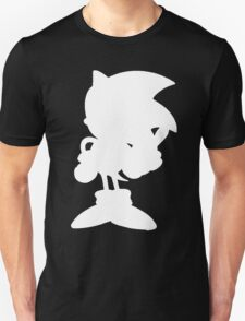 Classic Sonic Silhouette - White T-Shirt