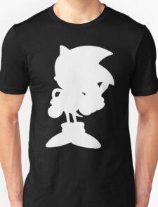Classic Sonic Silhouette - White Unisex T-Shirt