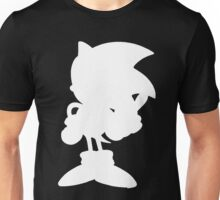 Classic Sonic Silhouette - White Unisex T-Shirt