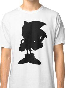 Classic Sonic Silhouette - Black Classic T-Shirt