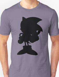 Classic Sonic Silhouette - Black T-Shirt