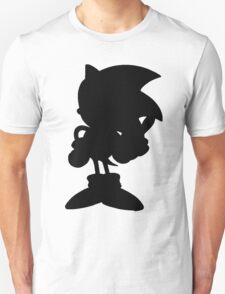 Classic Sonic Silhouette - Black Unisex T-Shirt