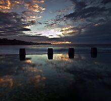 Coogee Clouds - Coogee Baths, NSW by Malcolm Katon