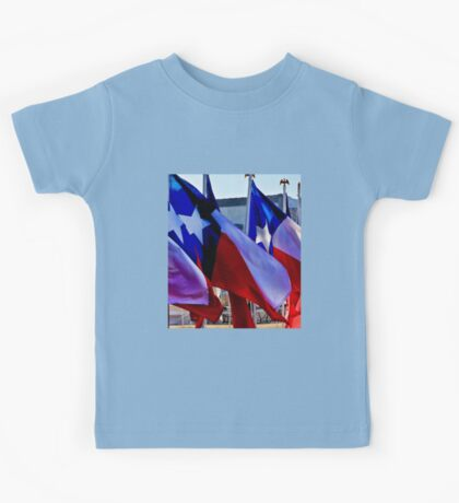 Row of Texas Flags Kids Tee