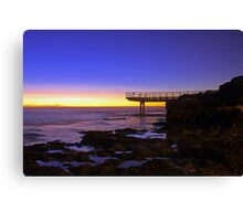 North Beach Jetty At Dusk  Canvas Print