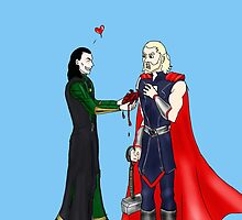 Loki and Thor: Have a Heart by smirkyt