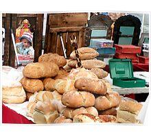 Impression of a festival market in Shipley UK 2008 Poster