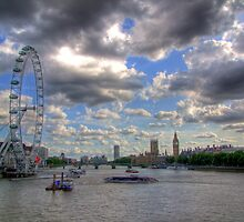 The Wheel and Westminster - HDR by Colin  Williams Photography