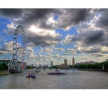 The Wheel and Westminster - HDR Photographic Print