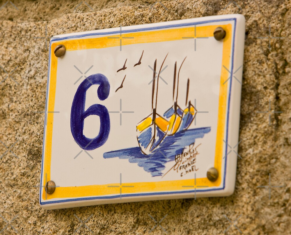 House Numbers - Number 6 by Buckwhite