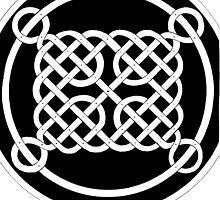 74 - VARIATION ON CELTIC KNOTWORK - DAVE EDWARDS - INK - 1983 by BLYTHART