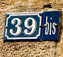 House Numbers - Number 39Bis by Buckwhite