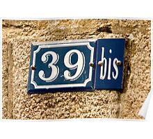 House Numbers - Number 39Bis Poster