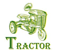 T is for Tractor Photographic Print