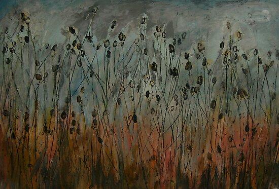 teasel field by Jeremy Wallace