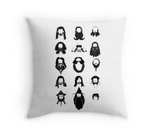 The Bearded Company Black and White Throw Pillow
