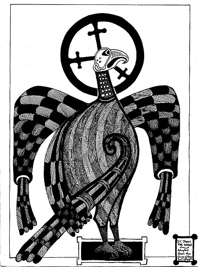 71 - ST. JOHN THE EAGLE - DAVE EDWARDS - INK - 1983 by BLYTHART