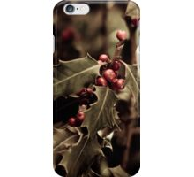 Holly bush with red berries III iPhone Case/Skin