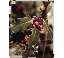 Holly bush with red berries III iPad Case/Skin