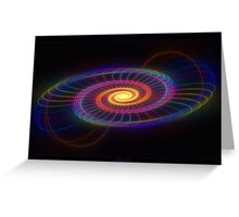 """Of Circles & Spirals"" - Fractal Art Greeting Card"