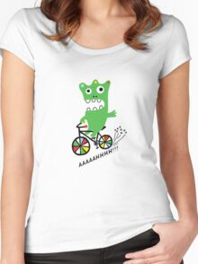 Critter Bike  Women's Fitted Scoop T-Shirt