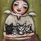 """""""Angel w/ 4 Kittens"""" by GraceG"""