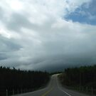 Driving into the storm in North West Ontario Canada by loralea