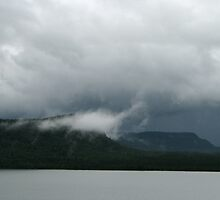 Driving into the Storm in NW Ontario 2 by loralea