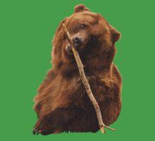 Grizzly Bear Cute One Piece - Short Sleeve