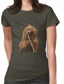 Grizzly Bear Cute Womens Fitted T-Shirt
