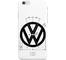 Volkswagen Logo Angles iPhone Case/Skin