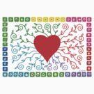 Rainbow Heart  by Andi Bird