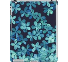 Hand Painted Floral Pattern in Teal & Navy Blue iPad Case/Skin