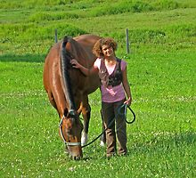 A Girl and Her Horse by Linda Miller Gesualdo