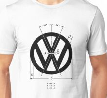 Volkswagen Logo Angles Unisex T-Shirt