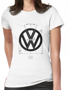 Volkswagen Logo Angles Womens Fitted T-Shirt
