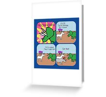 Triceracorn (Horned Warrior Friends comic) Greeting Card