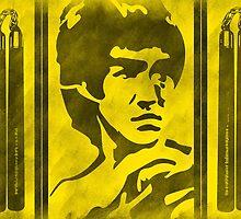 Bruce Lee and His Nunchucks by mrbiggmakk