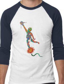 Korean Buddhist Temple Boy Men's Baseball ¾ T-Shirt