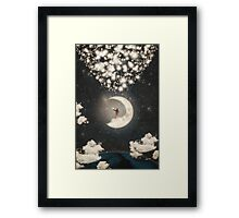 The Big Journey of the Man on the Moon Framed Print