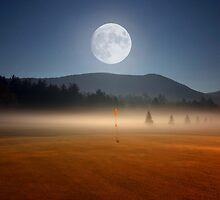 Moon Over Golf by Ron Risman