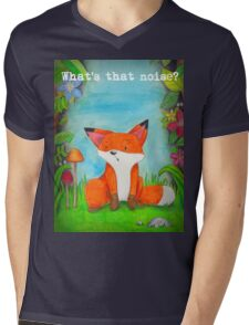 What's that noise? Freddy the Fox  Mens V-Neck T-Shirt