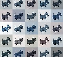 Fifty Shades of Grey Scottie Dogs (25 shades actually) by BonniePortraits
