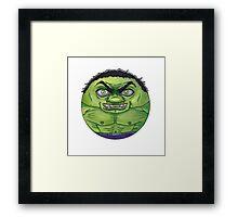 Hulk CircleToon Framed Print
